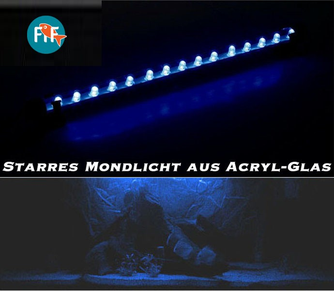 10cm mondlicht nachtlicht starre led leiste aus acryl aquaristik welt zubehoer aquaristik. Black Bedroom Furniture Sets. Home Design Ideas